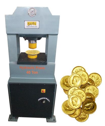 Silver bar cutting hydraulic press machine 60 ton in for Food bar press machine