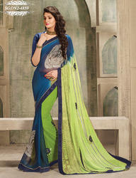 Multicolored Embroidery Saree in   Puna Kumbharia Road