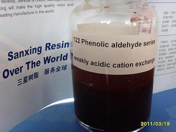 122 (TypeⅡ) Phenolic Aldehyde Series Weakly Acidic Cation Exchange Resin