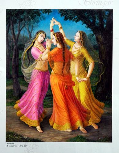 Ghoomar Oil Paintings On Canvas