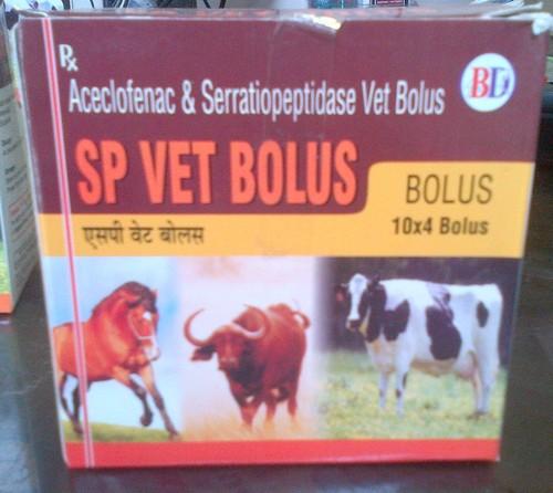 Aceclofenac and Serratiopeptidase Vet Bolus 10X4