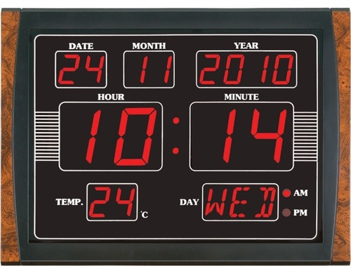 Led wall clocks suppliers traders wholesalers for Led digital wall clock in india