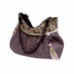 Designer Strip Jute Handbag