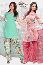 Printed Crepe Salwar Suit Fabric