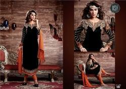 Velvet Designer Ladies Suits in  Bhatar