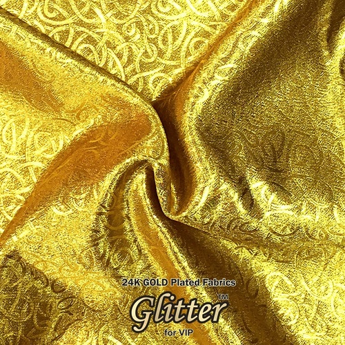 24K Gold plated Fabric with Nanocoating - Emboss Texture G-JQ01