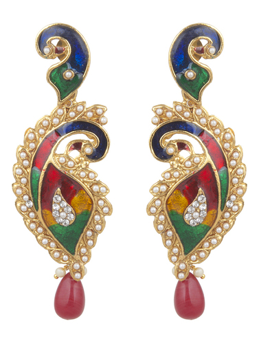 Antique Polki Earrings in  Bhuleshwar