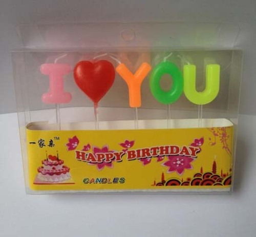 Happy Birthday Heart Letter Candles