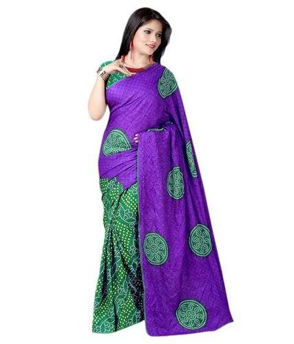 Fancy Chiffon Printed Bandhani Sarees