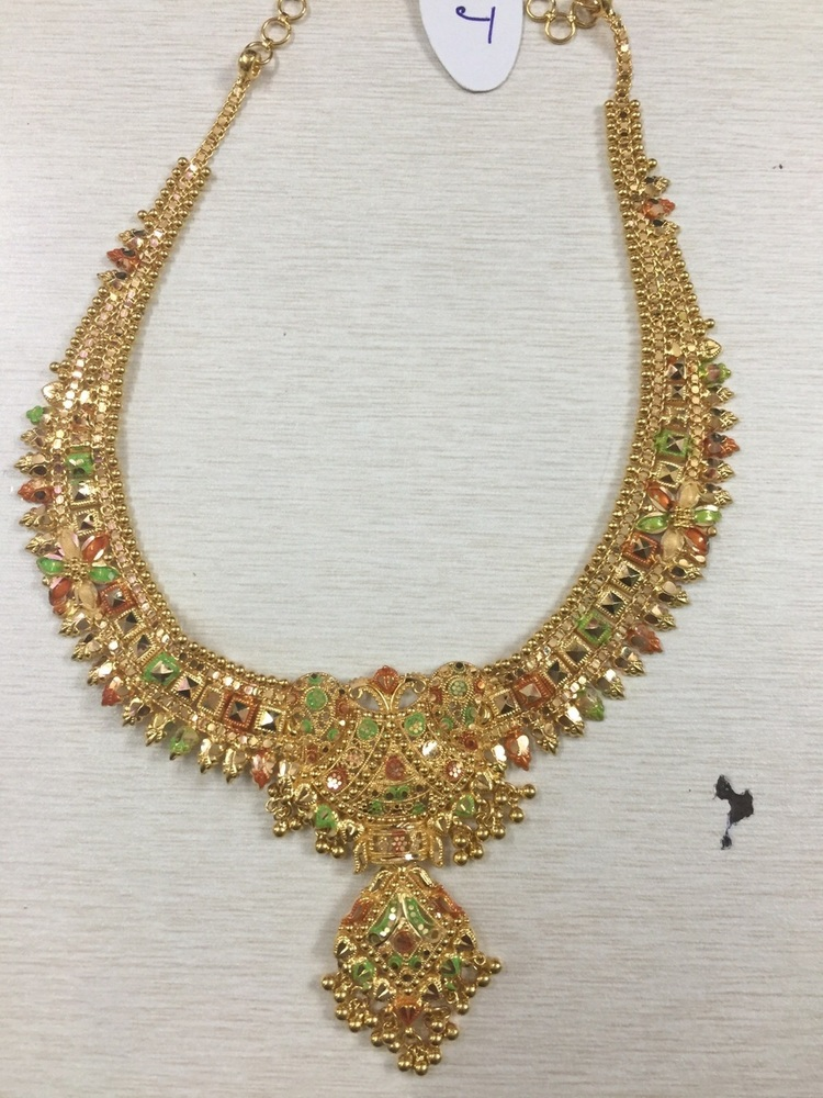Designer Gold Necklace in Guntur, Andhra Pradesh - SJS Jewellers