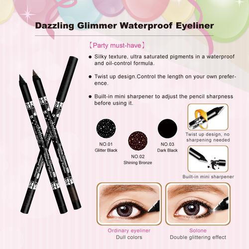 Dazzling Glimmer Waterproof Eyeliner