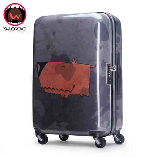 ABS PC Zipper Film Trolley Luggage Cases With 210D Lining