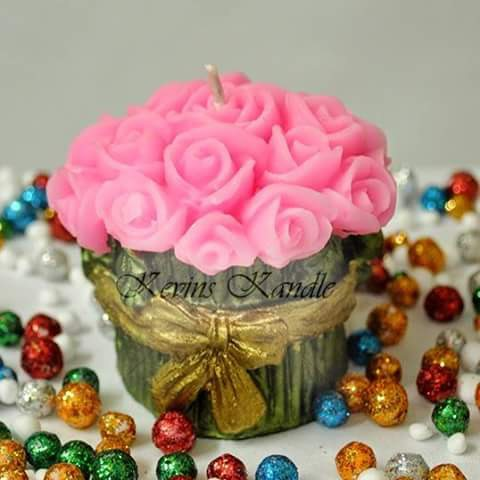Flower Bouquet Aroma Candles (100 gms)
