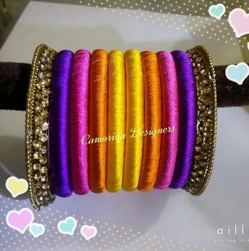 Silk Thread Bangles in  Chinniampalayam