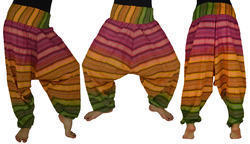 Striped Cotton Harem Trouser