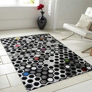 Dyed Leather Rugs Honeycomb