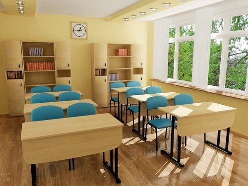 Modern School Desk Bench