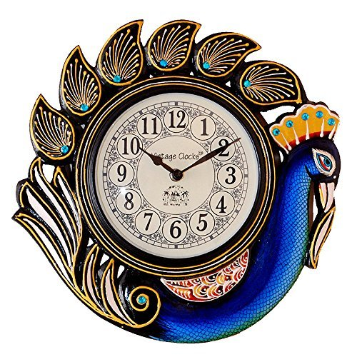 Vintage Clock Peacock Blue Wall Clock in  Dakshineswar
