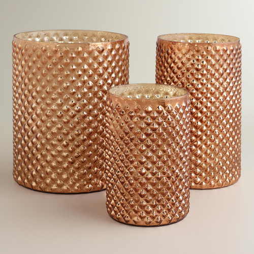 Copper Hobnail Mercury Glass