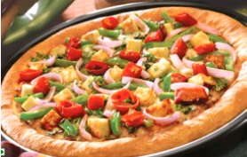 Cheese Tomato Capsicum Pizza