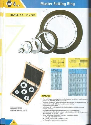 Master Setting Ring Gauges