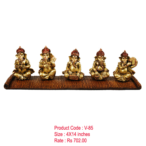Five Musical Ganesha Idols