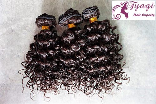 Deep Curly Indian Human Hair in  Phase-Ii