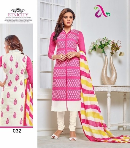 Ladies Chanderi Salwar Kameez Suit