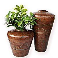Floor Metal Vases