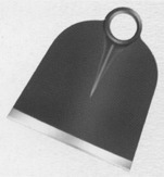Planter Hoe Round Eye and Black Painted