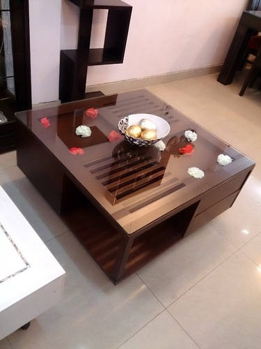 Square Wooden Center Tables With Storage In New Delhi