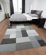 Acrylic Carpets (Black White And Grey)