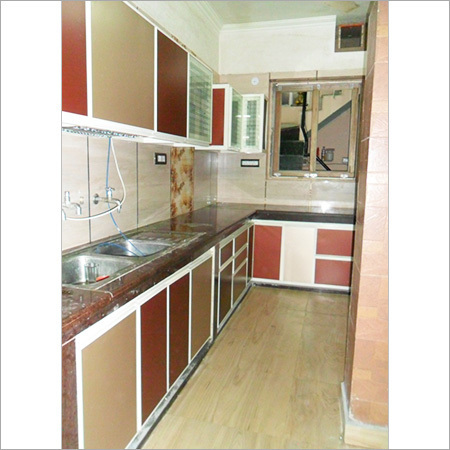 Aluminum modular kitchen and wardrobe in new delhi delhi for Modular kitchen designs aluminium