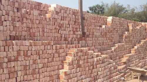 Red Clay Bricks : Red clay bricks in shalimar market katihar ohm construction