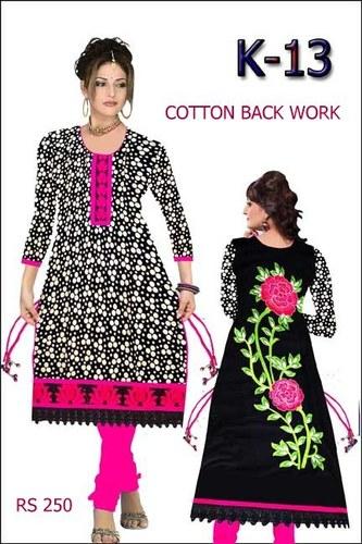 Cotton Back Work Ladies Kurti