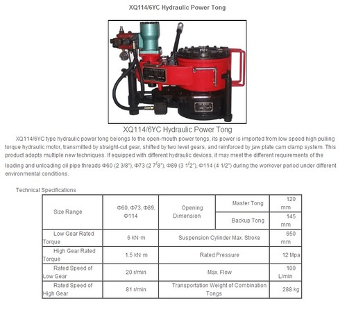 Power Tong Jaws: Hydraulic Power Tong In Anshan, Liaoning