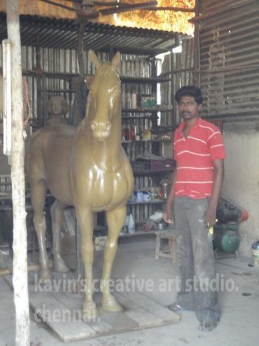 Horse Sculptures in  Korattur