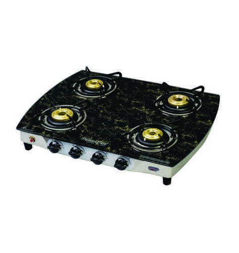 4 Burner Glass Top With Auto Ignition