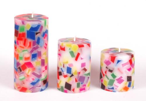 Chunk Pillar Candles in  Mansarovar