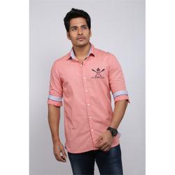 Designer Pink Linen Shirt