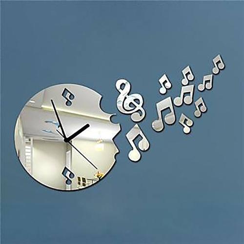 Black Acrylic Designer Fancy Laser Cut Wall Clock In New
