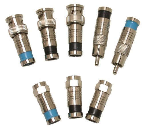 Male Female Type N Crimp / Clamp Coaxial Cable Connectors