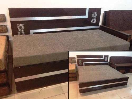 Modern wooden diwan cum bed in new delhi delhi for Double bed diwan set