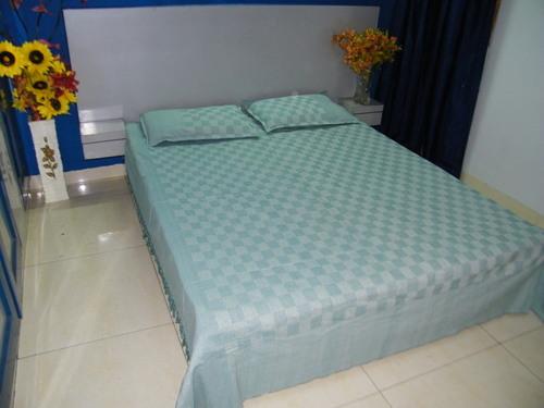 Voffel Handloom Cotton Bed Sheet (90x100 inches)