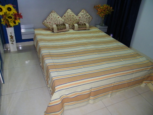 Raffi Straip Cotton Handloom Bed Sheets (90x100)