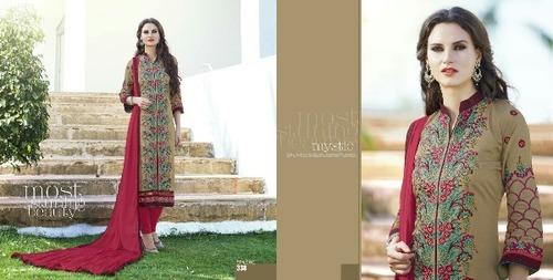Kiyaza Green Valley 2 Cotton Embroidery Ladies Suit in  Chandni Chowk