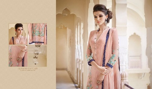 Omtex Shravika Chiffon Embroidery Ladies Suit in  Chandni Chowk