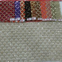 Dyeable Net Embroidered Fabric