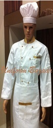 White Chef Coat With Golden Piping in  Andheri (W)