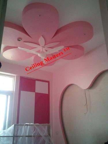 Kids Room Flower Pink Ceiling Design Service In 10 Sector